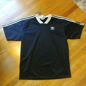 Vintage Adidas trefoil soccer jersy
